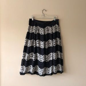 Who What Wear black lace skirt